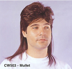 BCW503 Men Costume Wig, Mullet