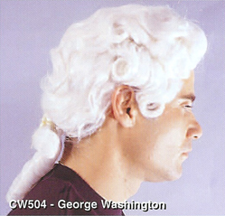 BCW504 Men Costume Wig, George Washington