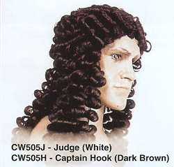 BCW505 Men Costume Wig, Judge, Captain Hook