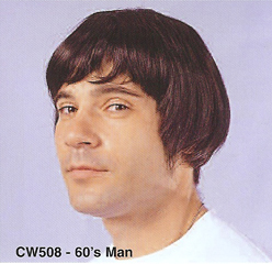 BCW508 Men Costume Wig, 60's Man