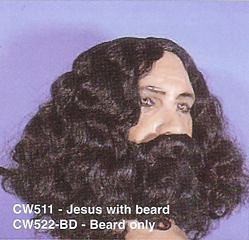 BCW511 Men Costume Wig, Jesus
