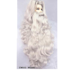 BCW512 Men Costume Wig, Wizard