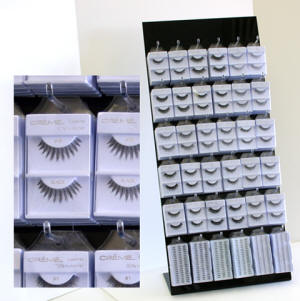 eyelash acryl rack, eyelash clam shell acrylic rack