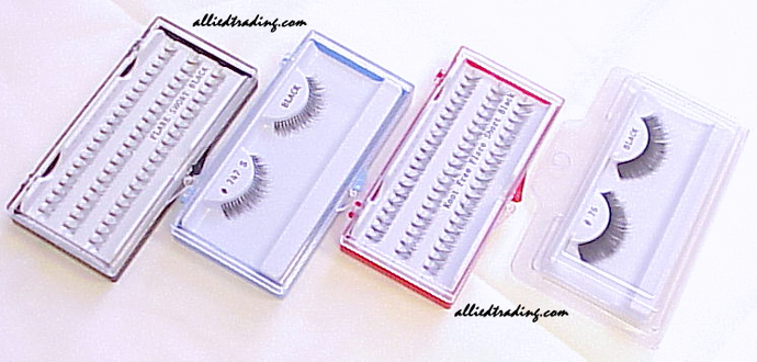 Eyelashes in a cases
