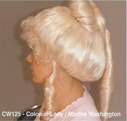 BCW125 COLONIAL LADY, MARTHA WASHINGTON