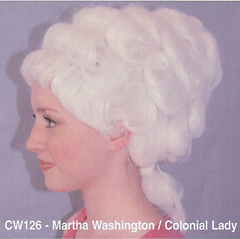BCW126 MARTHA WASHINGTON, COLONIAL LADY