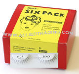 Item # 27, 6 pack strip lashes in bulk, wholesale cheap bulk eyelashes, discount natural false eyelashes, sold in pack quantity,