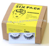 6 pack eyelashes in Bulk, human hair lashes, upper lashes, Wholesale false eyelashes, wholesale eyelash extensions, sold in pack quantity