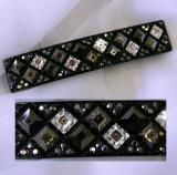 swarovski hair barrette, item # ba187