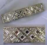 swarovski hair barrette, item # ba188, allied trading