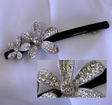 swarovski hair pin barrette