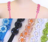 RBP27 Round Jeweled bra strap