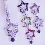 CEK53 STAR SHAPED CELL PHONE CHARM AND STRAP