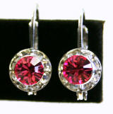 Item # AR1101 Swarovski Hoop Earrings, 8mm