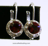 Item # AR1106 Swarovski Lever back Earrings, 8mm