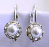 AR1112 swarovski lever back earrings, 8mm