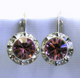 swarovski light amethyst lever back earrings