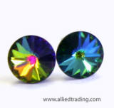 item # ar203 crystal vitrail color medium stone stud earrings, 5mm