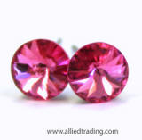 swarovski rose color tiny stud earrings, 5mm
