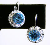 AR242 Swarovski Lever Back Earrings, 11mm
