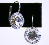 Swarovski Lever Back Earrings, 11mm