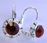 AR244 Swarovski Leverback Earrings, 11mm
