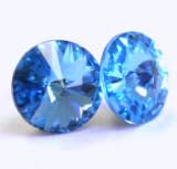 AR903 Swarovski Earrings, Rivoli Stones, 8mm