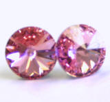 AR907 Swarovski Earrings, Rivoli Stones, 8mm