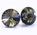 AR910 Swarovski Earrings, Rivoli Stones, 8mm