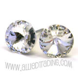 Swarovski Crystal Earrings. 8mm in diameter