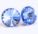 AR922 Swarovski Stud Earrings, Rivoli stones, 11mm