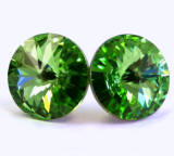 swarovski peridot stud earrings