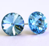 Swarovski Stud Earrings, Single Round Stones
