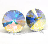 Swarovski Earrings, Crystal AB, 14mm in diameter