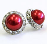pearl stud earrings 20mm