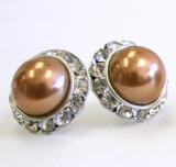 pearl jewelry earrings size 20mm
