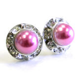 lighter rose bridal pearl earrings in 11mm