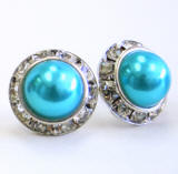 item # arp83 faux pearl stud earrings 15mm