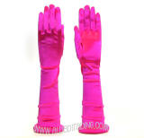 "19"" Opera Gloves. 12BL Over Elbow Length. Fuchsia Color."