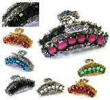 hair accessory, swarovski elements hair claw clips