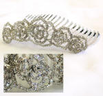 item # hc15 swarovski bridal hair comb
