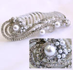 cloud inspired swarovski bridal hair side comb