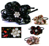 wholesale fabric headband with crystal accent, item # srb69
