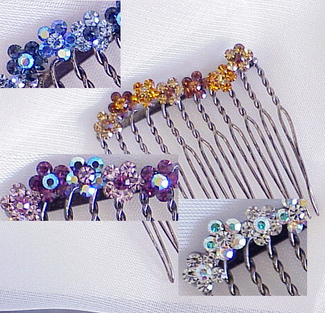 Swarovski Crystal Hair Combs Wholesale 117