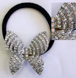 item # srp95 swarovski butterfly onspired ponytail