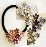 swarovski crystal lilac inspired ponytail holder