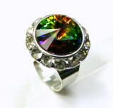 Swarovski Rondelle Finger Ring. item # rn406